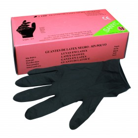 BLACK LATEX GLOVES WITHOUR...