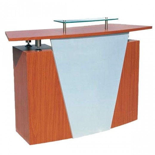RECEPTION DESK DA VINCI BROWN-GREY