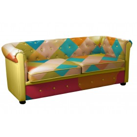 CHESTER SOFA. 2 SEATER. PINK