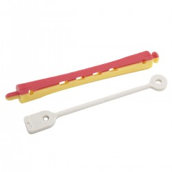 PLASTIC ROLLERS RED/YELL....