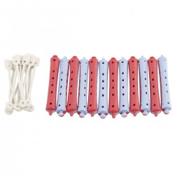 PLASTIC ROLLERS BLUE/RED...