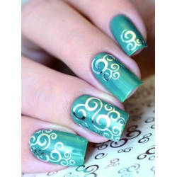 NAIL ART STICKERS. SILVER...